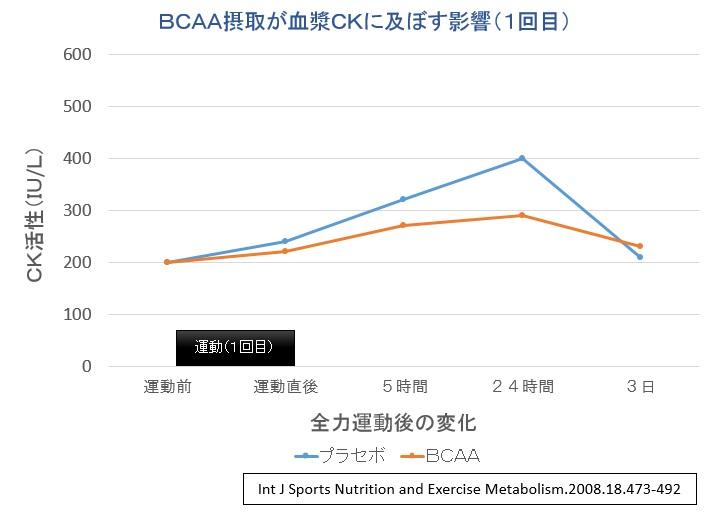 BCAA摂取実験①