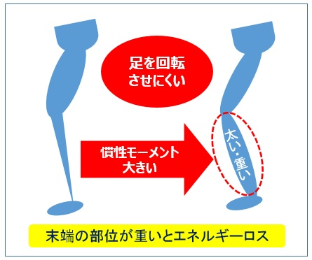 足部慣性モーメント